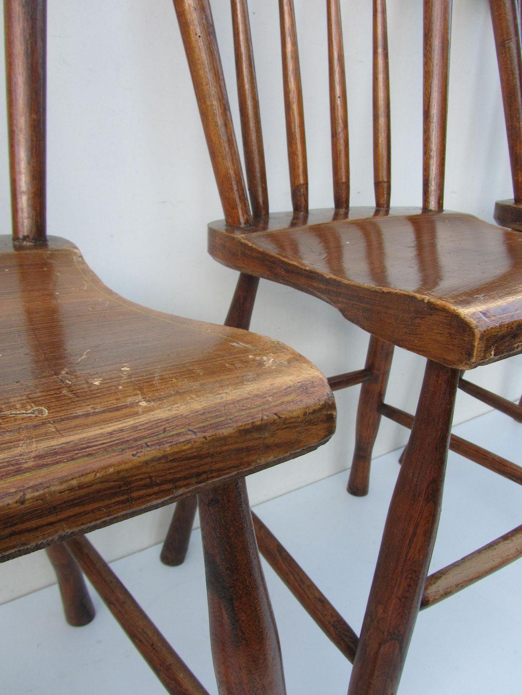 Originele antieke houten stoelen, boeren stoelen, eind 1800, Nederlands