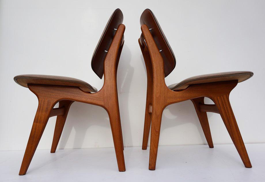Vintage stoelen deens design arne hovmand olsen for Vintage stoelen