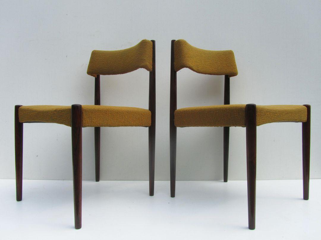 Aksel, Bender, Madsen,Vintage, Deense, Vintage, Rosewood, Chairs,