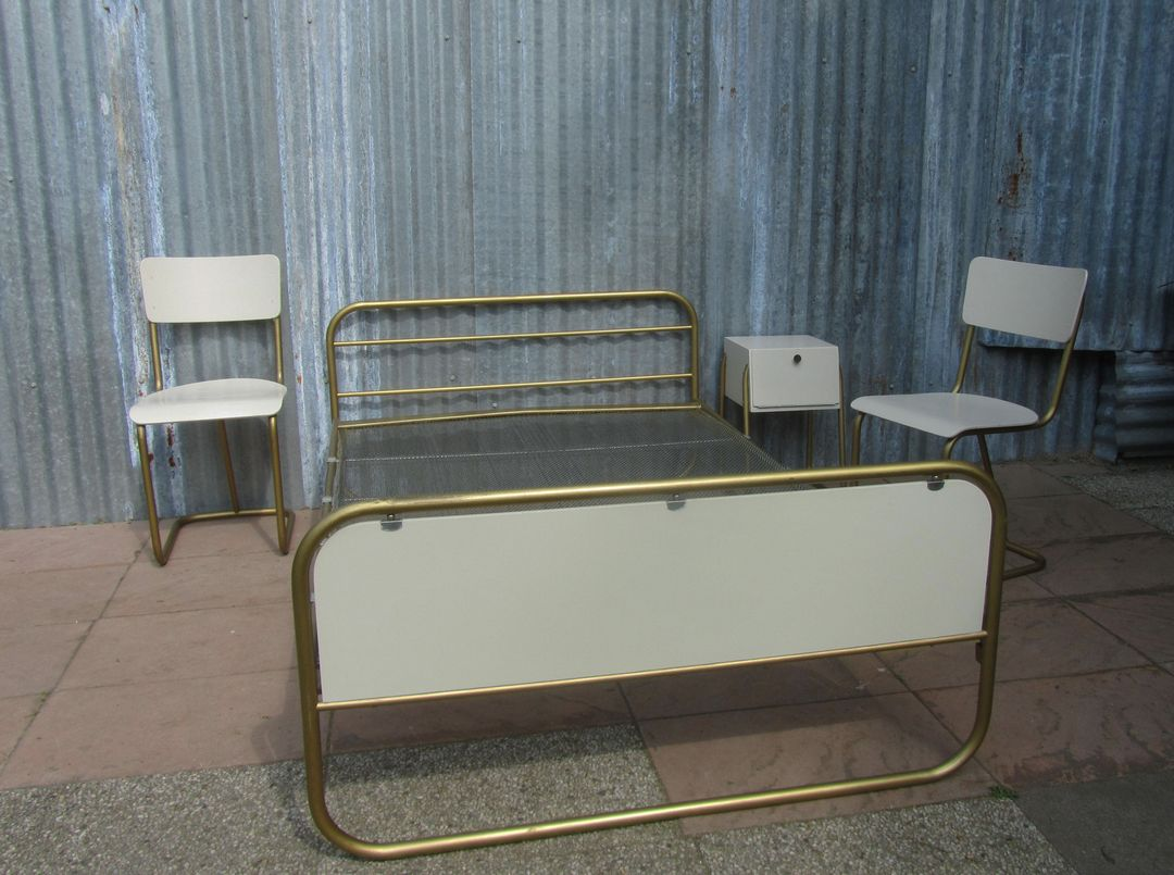Vintage gispen bedroom set made bij w h gispen a pioneer for Retro style bedroom furniture