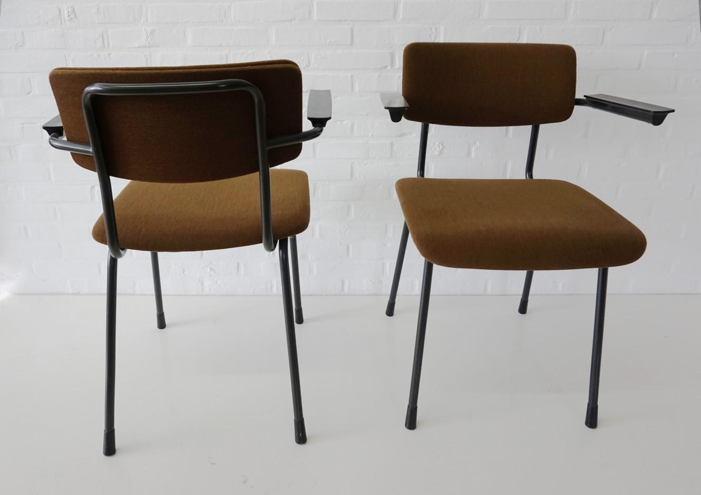 Originele Gispen Bureaustoel.Set Van 2 Armstoelen Bureaustoelen Van A R Cordemeyer Voor Gispen