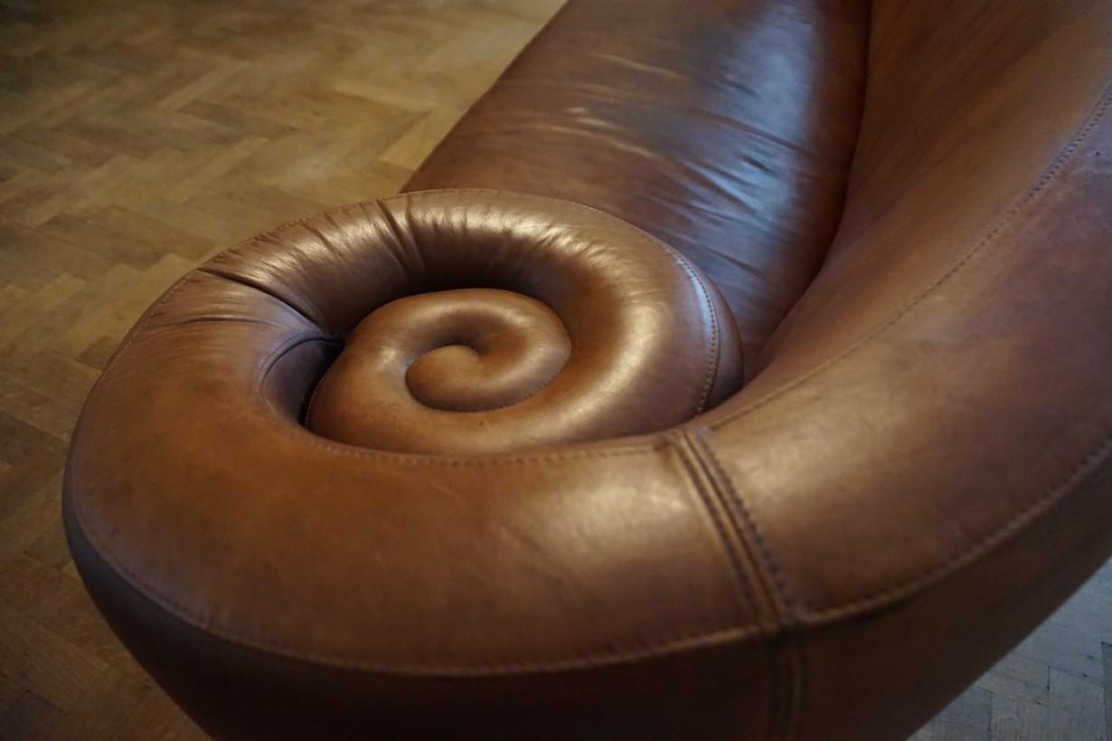 Leren Gelderland Bank.Vintage Bruin Leren Bank Sofa Canape Gioconda Maroeska Metz