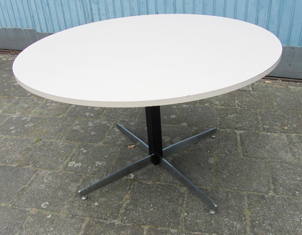 vintage mid century modern round formica dinette kitchen table. Black Bedroom Furniture Sets. Home Design Ideas