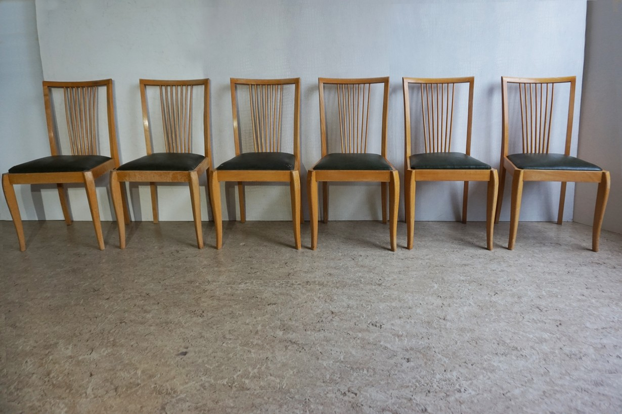 Picture of: Mid Century Vintage Danish Spindle Back Dining Chairs
