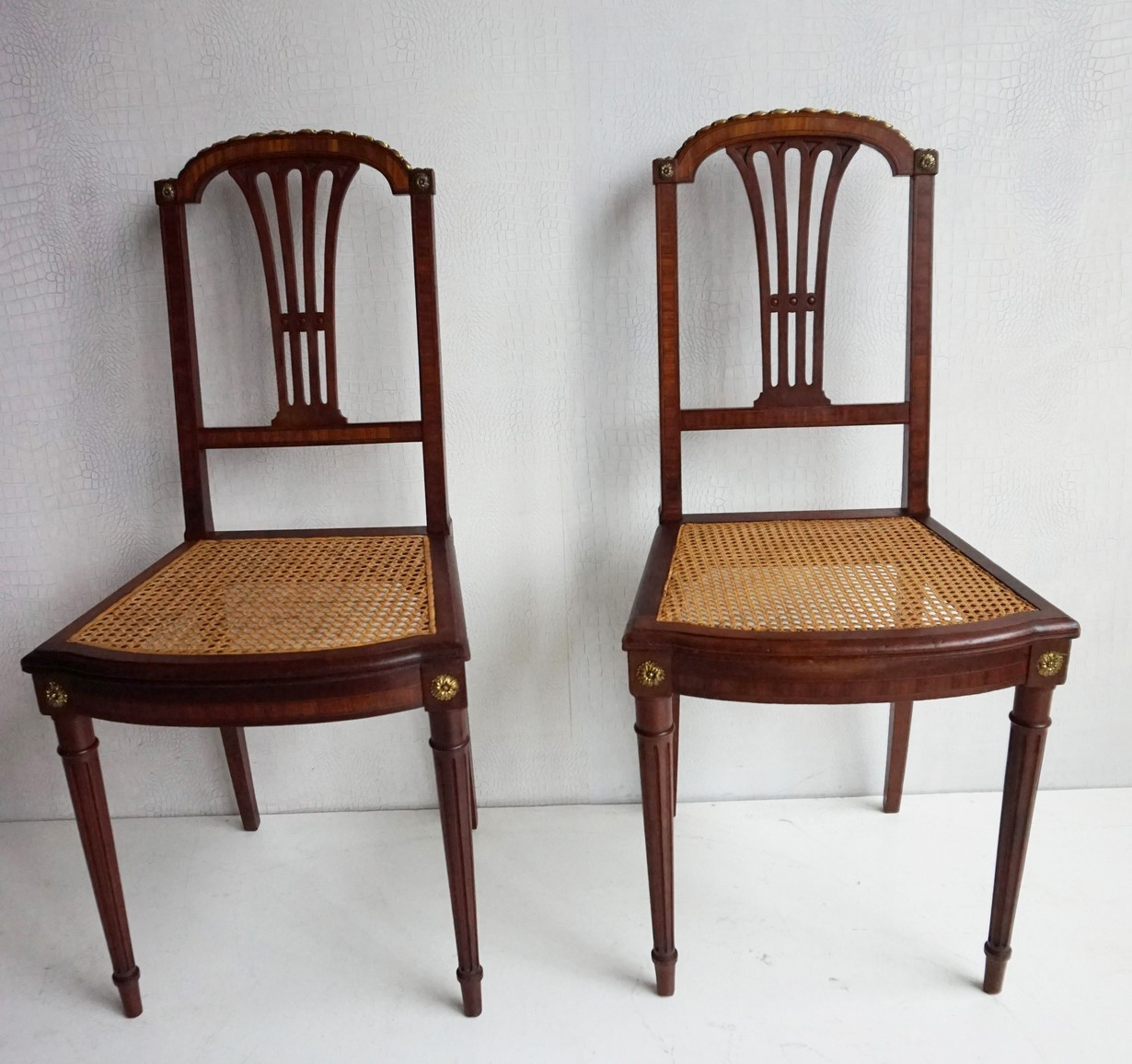 Antique Louis Xvi Mahogany Side Chairs