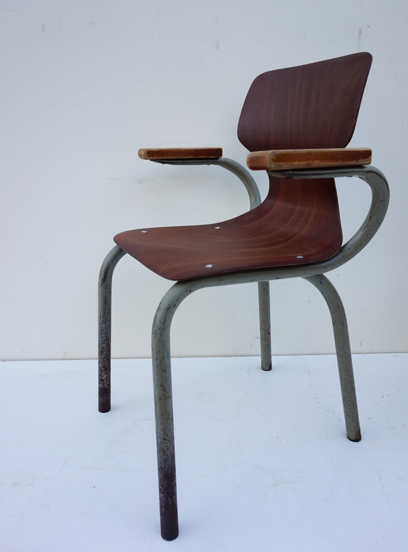 Industrieel Design Vintage.Vintage Pagholz Children Chairs Tubax