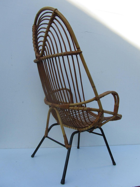 Vintage Rohe Stoel.Vintage Rattan Easy Chair Designed By Dirk Van Sliedrecht And