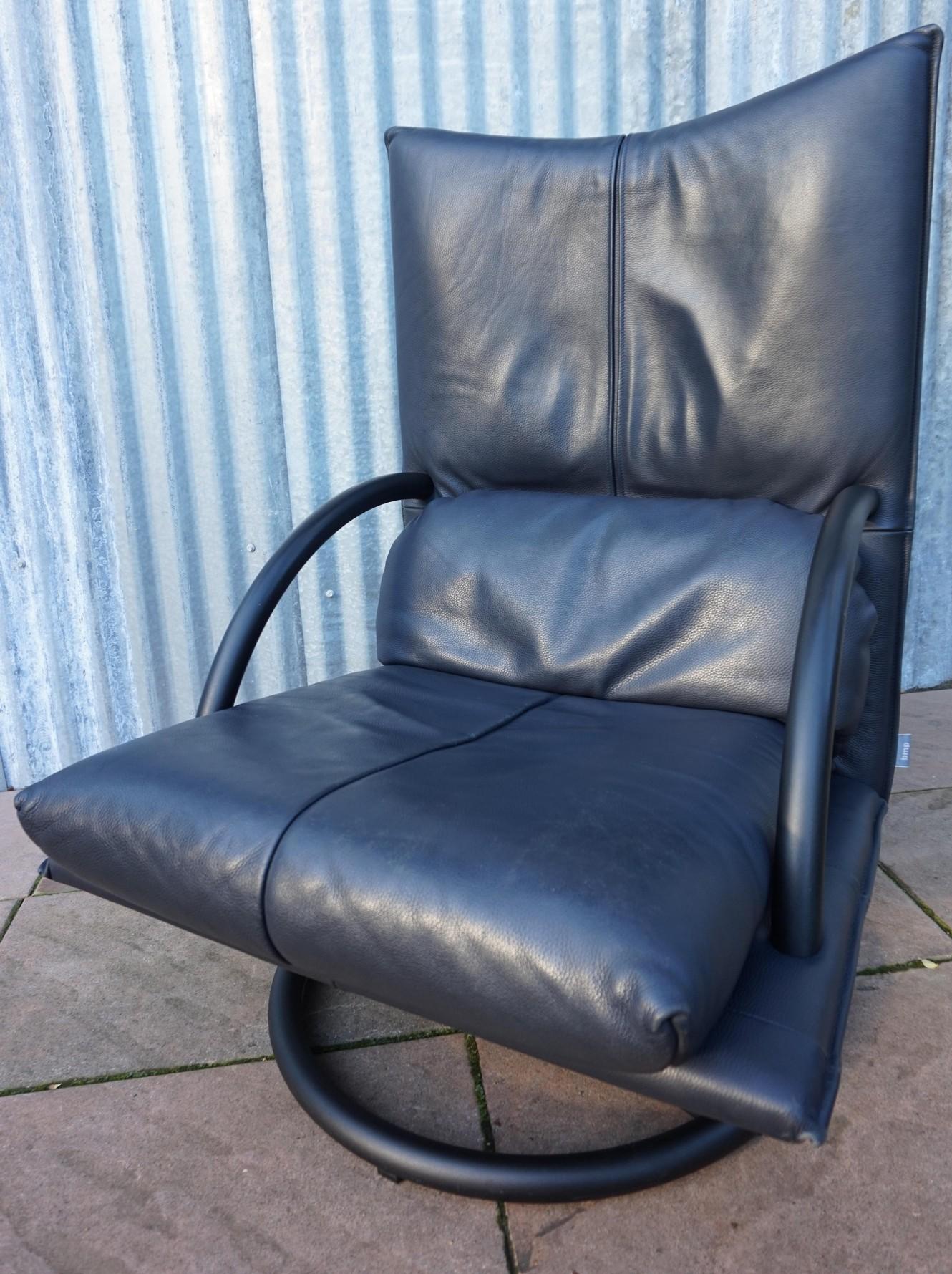 nieuw vintage leren bmp fauteuil rolf benz. Black Bedroom Furniture Sets. Home Design Ideas
