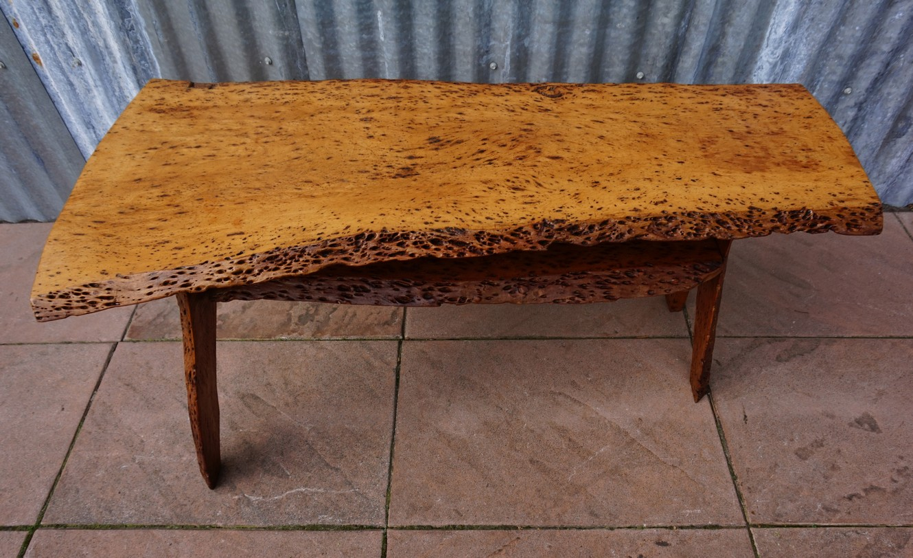 Salontafel Design On Stock.Mid Century Burl Wood Tree Trunk Coffee Table Sidetable In Two