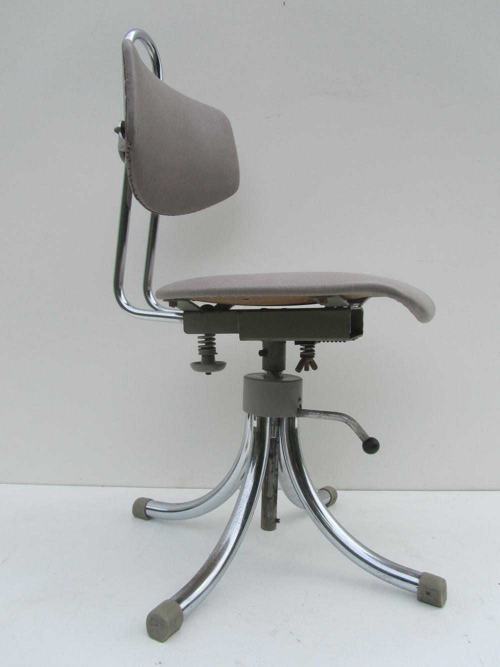 Tubax industriele vintage bureaustoel werk stoel for Bureaustoel vintage