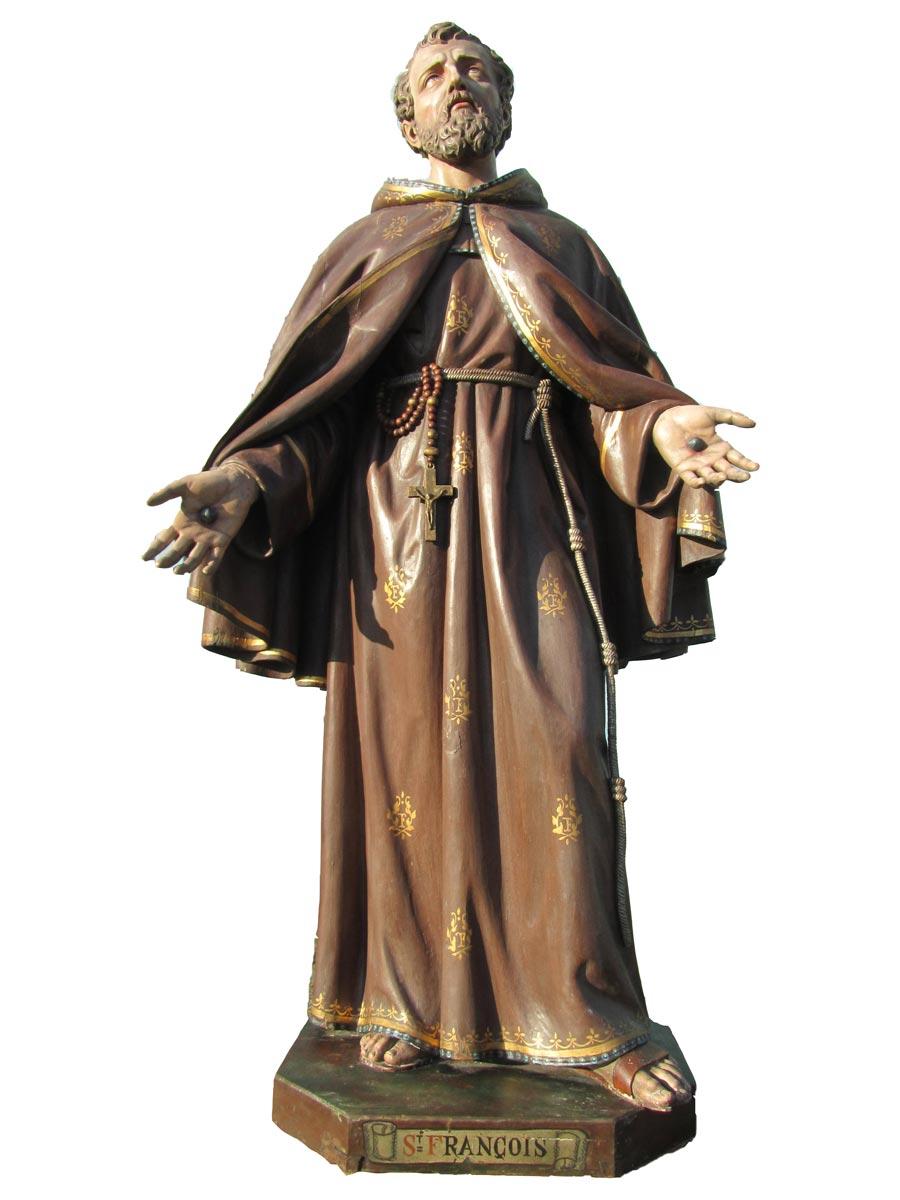 Antique Sculpturestatue San Francis Of Assisi San Francesco