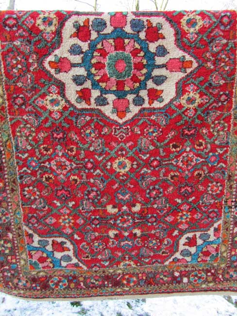 antiek, Perzisch, handgeknoop,t tapijt, antique, Persian, rug, Hand-knotted, vegetable, dyed, colours
