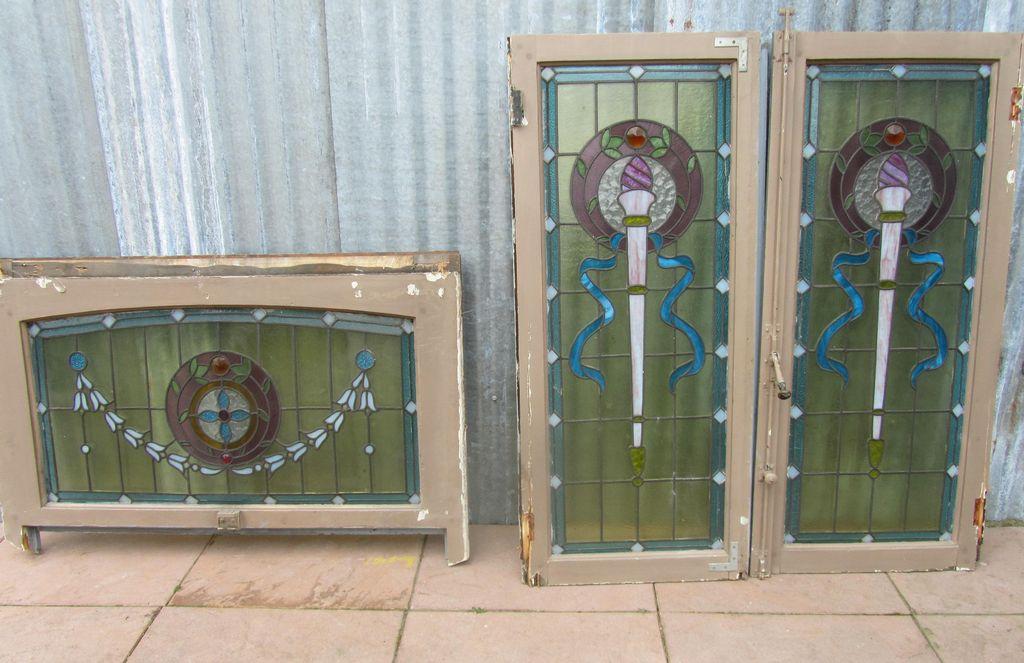 Glas En Lood Ramen.Antieke Glas In Lood Ramen
