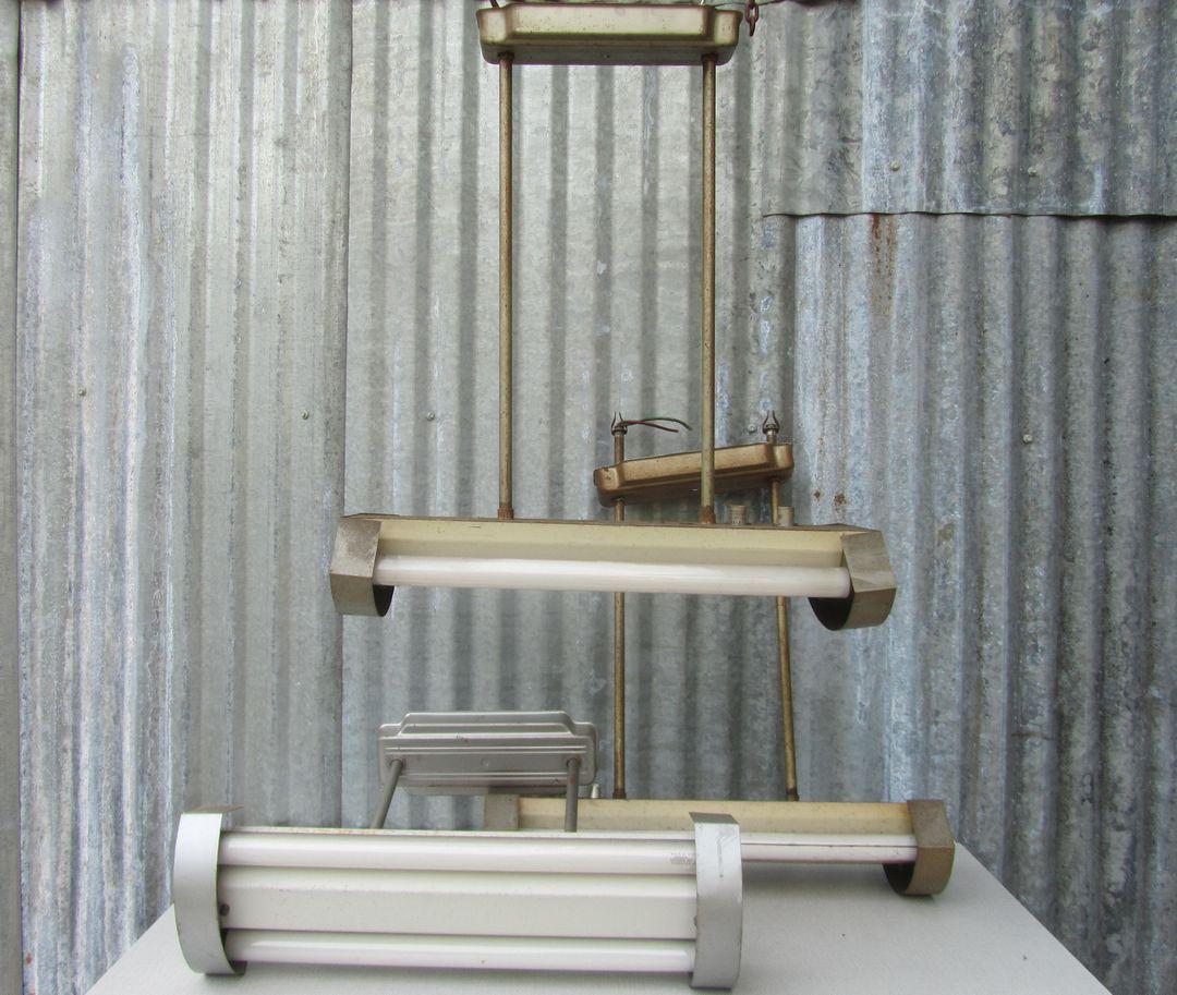 industriele tl lampen fabriekslampen schoollampen lampen verlichting oude vintage