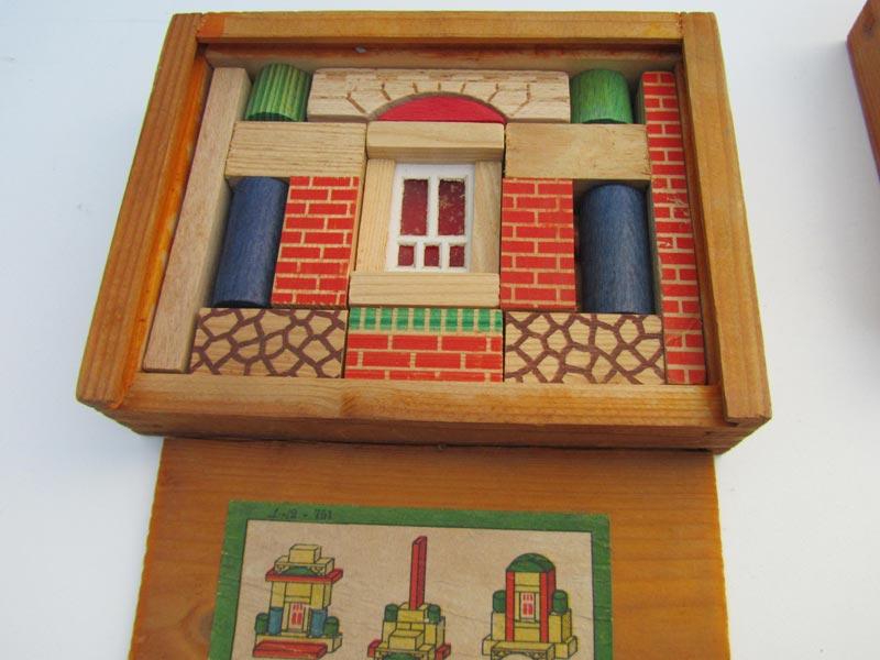 Onwijs Set van 4 oude vintage houten blokkendozen EE-46