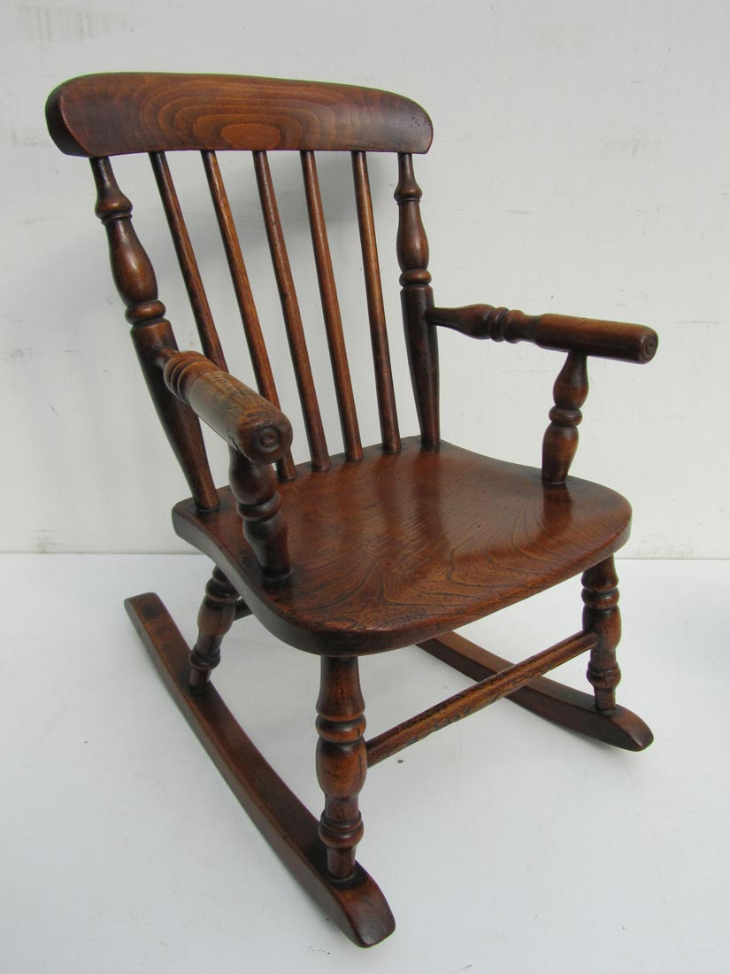 Amazing Antique English Childs Oak Rocking Chair Beatyapartments Chair Design Images Beatyapartmentscom