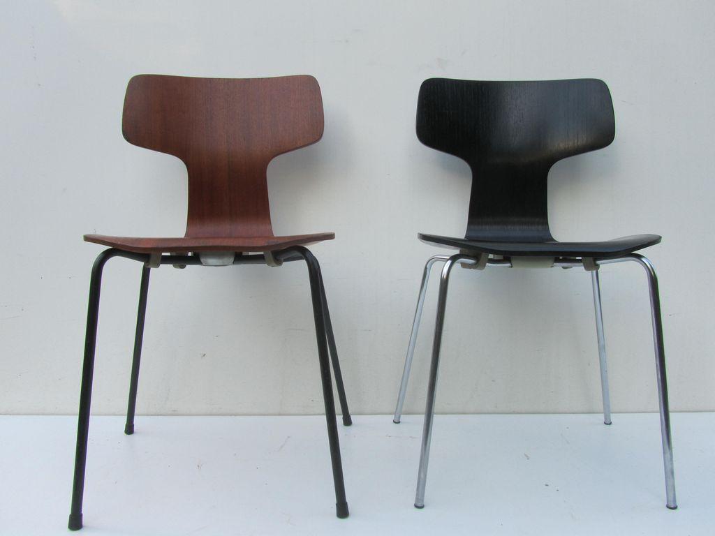 vintage chairs arne jacobsen for fritz hansen. Black Bedroom Furniture Sets. Home Design Ideas