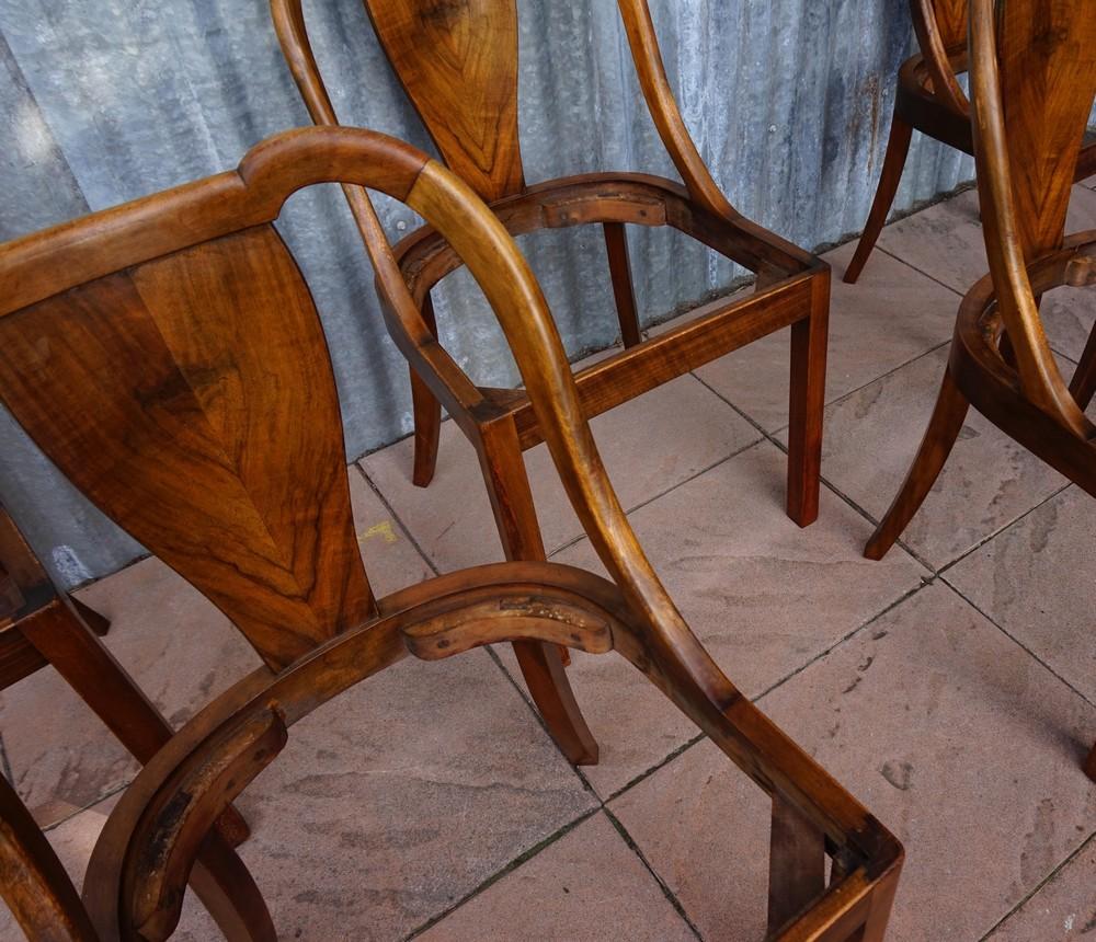 5 franse art deco stoelen eetkamerstoelen 1930 - Eetkamer art deco ...