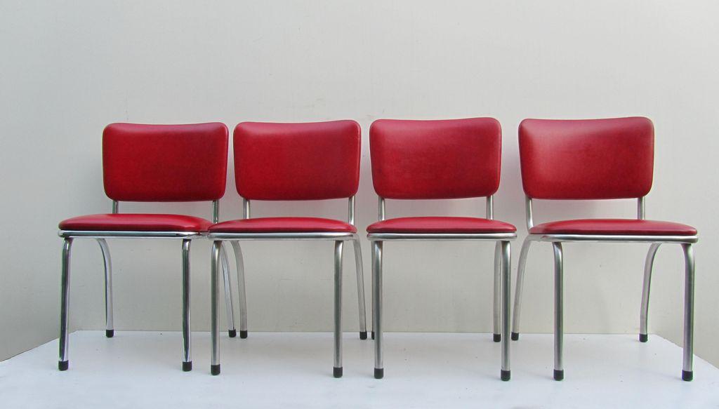 Jaren 50 klassieke amerikaanse keukenstoelen diner stoelen art