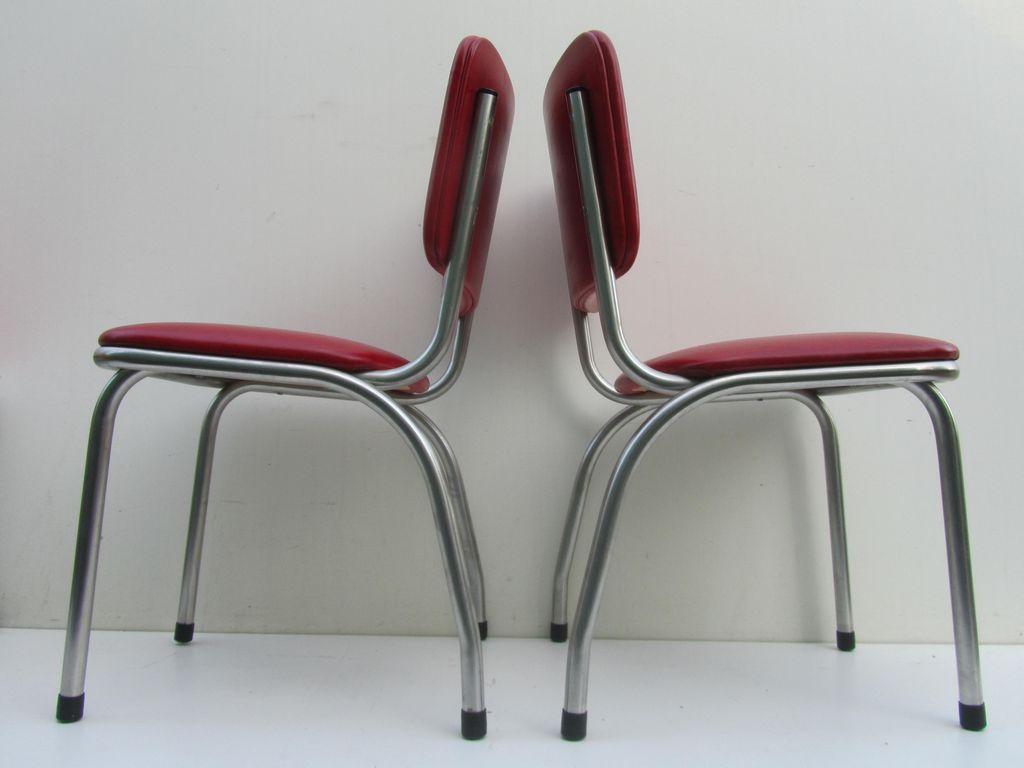 Jaren 50 klassieke amerikaanse keukenstoelen, diner stoelen, art ...