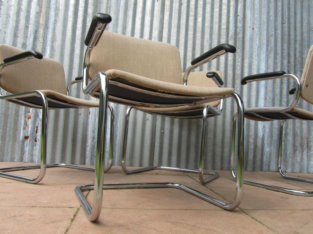 Luxe vintage retro bureaustoelen conferentiestoelen for Vergaderstoelen design