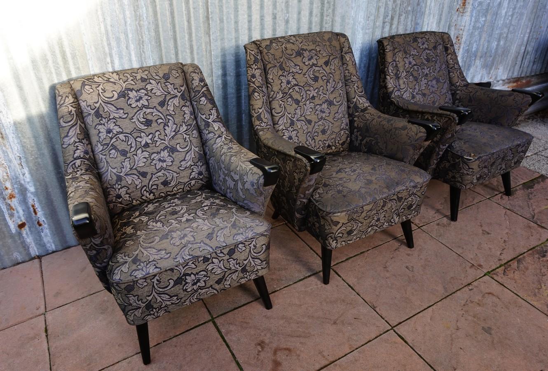 Retro Vintage Cocktail Fauteuil.Set Of 3 Scandinavian Vintage Retro Club Cocktail Chairs Fauteuils