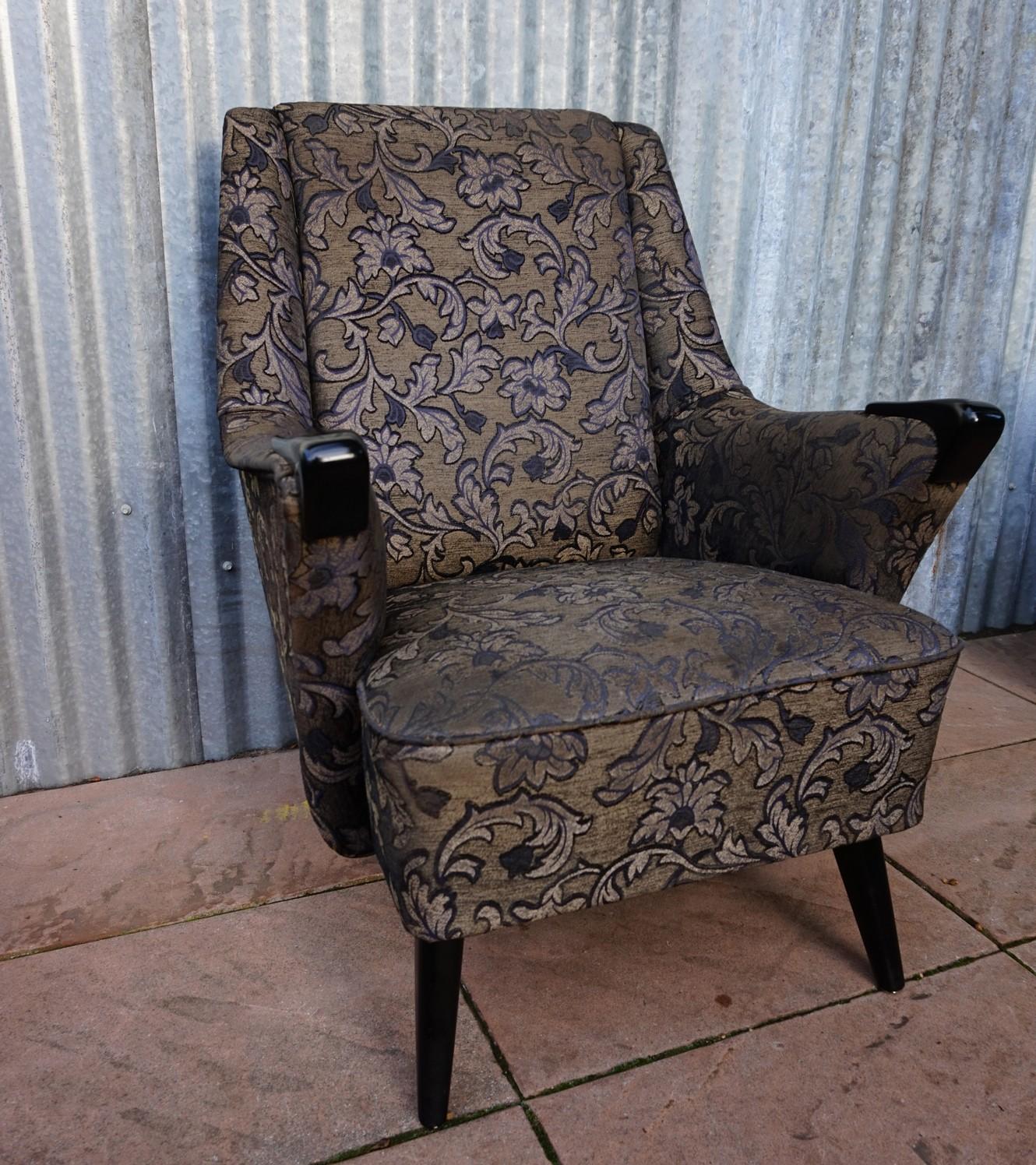 set van 3 vintage retro cocktail fauteuil club chairs. Black Bedroom Furniture Sets. Home Design Ideas