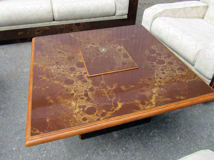 Willy Rizzo Coffee Table.Modernist Salon Suite And Coffee Table French Italian 1970s