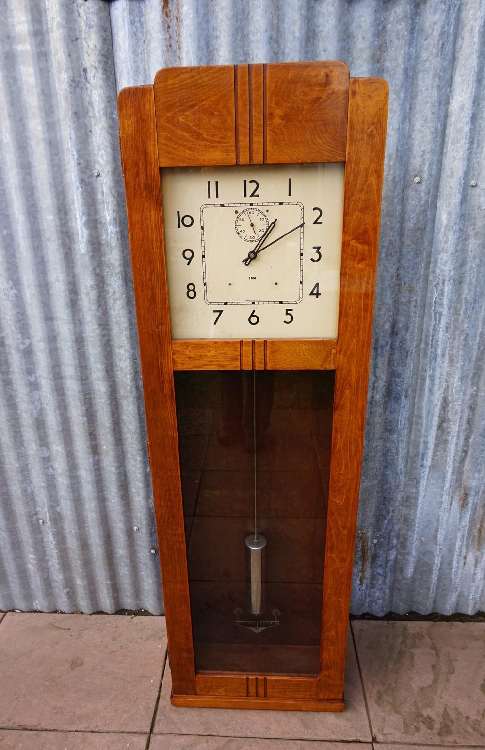 Rare Vintage Art Deco Ibm Master Clock International