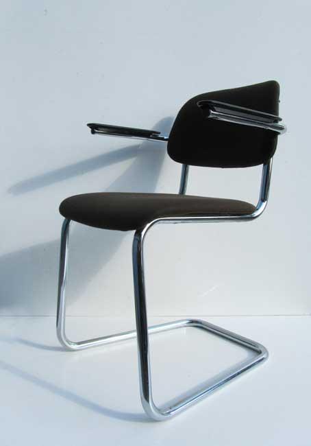 Gispen, De Wit buisframe stoel, bureaustoel, sledestoel