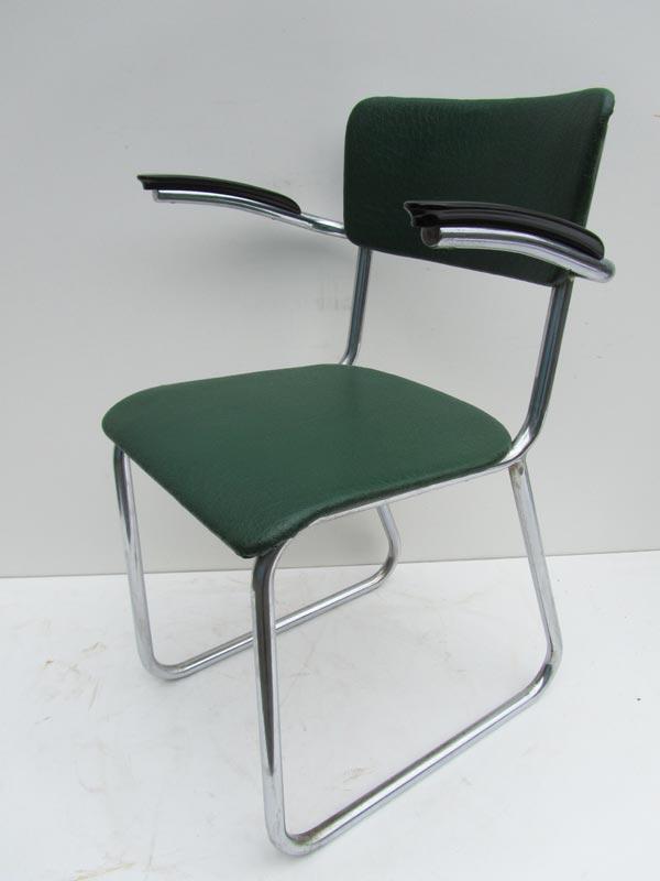 Industrieel fabrieksantiek vintage buisframe stoel for Bureaustoel vintage