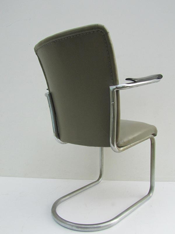Gispen   de Wit buisframe stoel  fauteuil, tube chair Dutch design