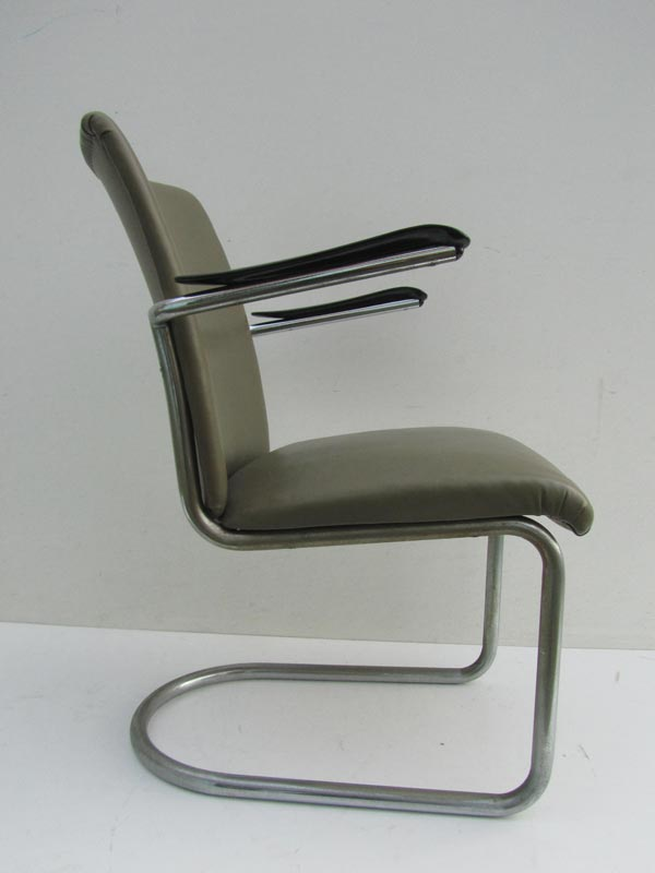 Gispen de wit buisframe stoel fauteuil tube chair dutch for Dutch design stoel