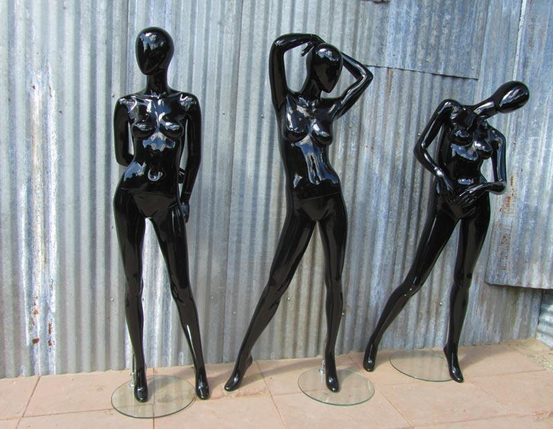 3 vintage hans boodt etalagepoppen black shiny mannequins. Black Bedroom Furniture Sets. Home Design Ideas