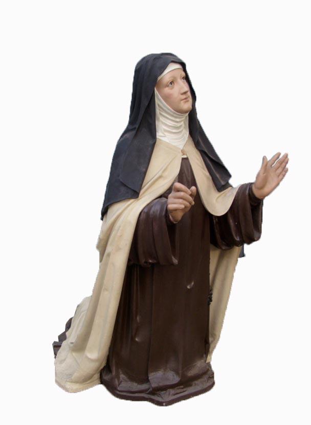 Levensgroot Heilig Beeld Non Theresia Van Avila