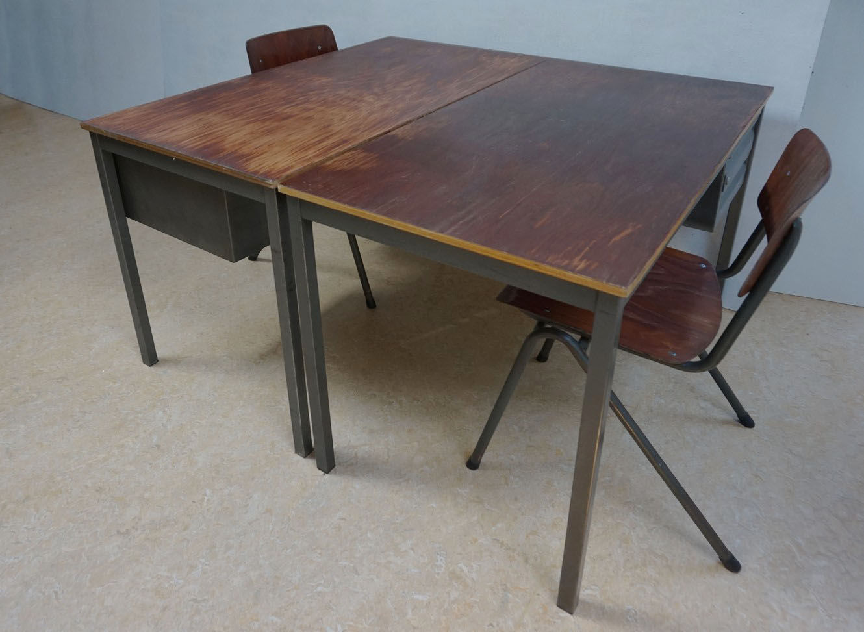 Renovated office vintage secretary wood black vintage xn xsk