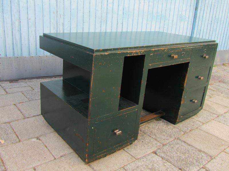 Industriel houten kubistisch bureau - Houten bureau voor kinderen ...
