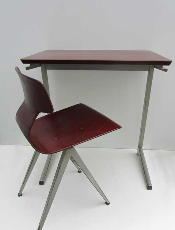 Industriel galvanitas plywood bureau met stoel ideaal for Bureau stoel