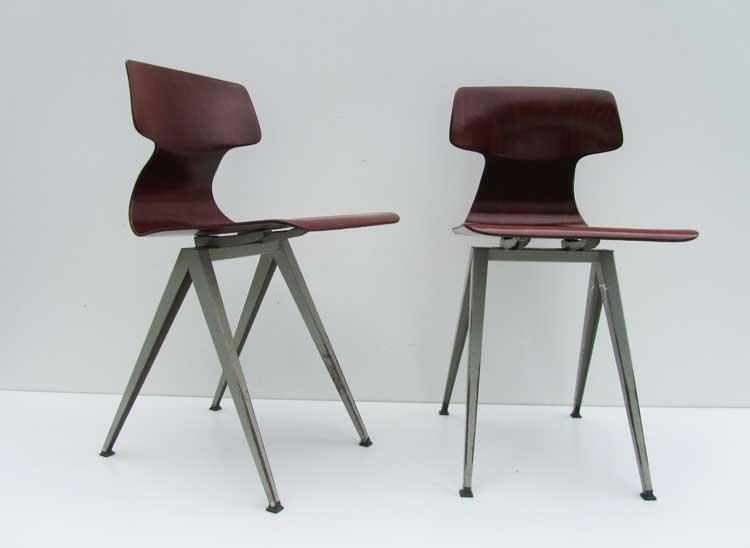 Industriel galvanitas plywood bureau met stoel ideaal voor laptop