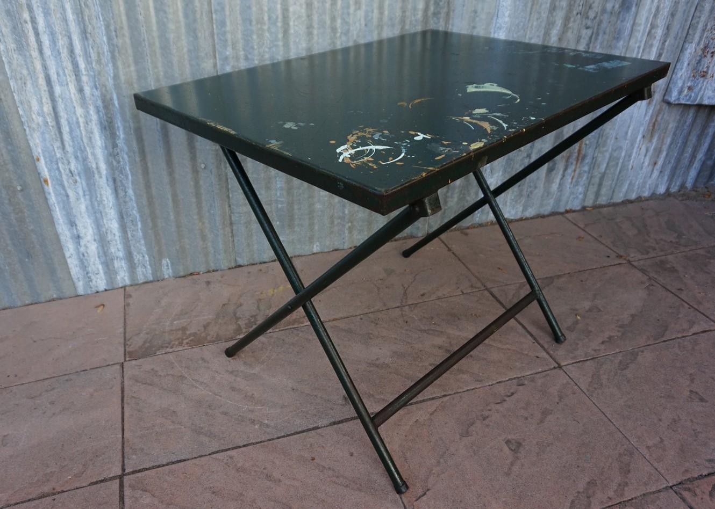 Ijzeren Side Table.Industrial Steel Folding Table Garden Table