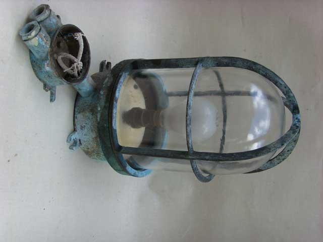 Oude Industriele Lampen : Vintage industriele bronzen lamp oude kooilamp