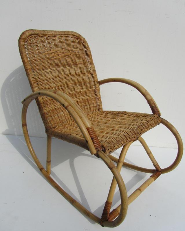 Spiksplinternieuw Vintage kids rattan rocking chair ZI-58