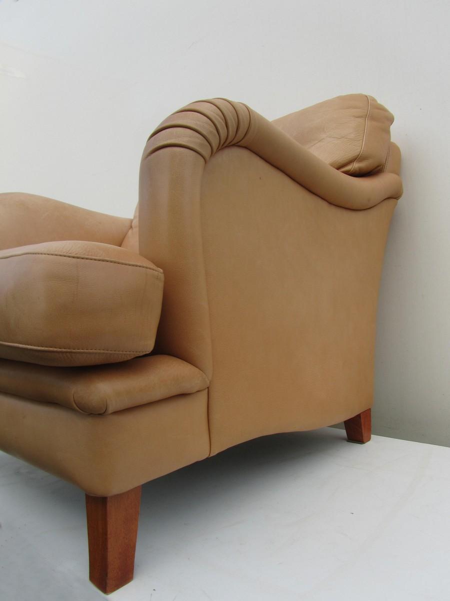 Rolf Benz Lederen Fauteuil.Bench Leather Club Armchair