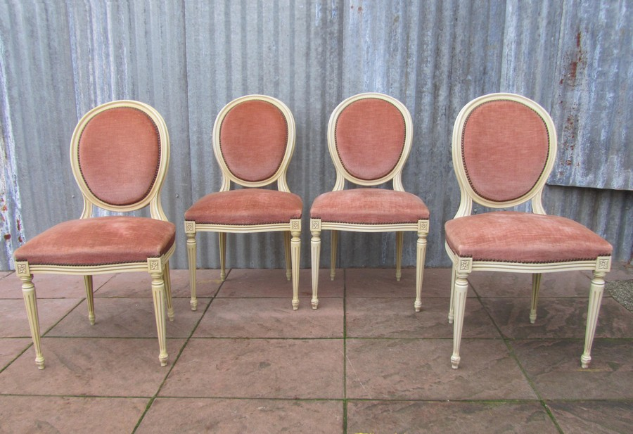 Franse, Louis, XVI, medaillon, stoelen, chairs,  brocante