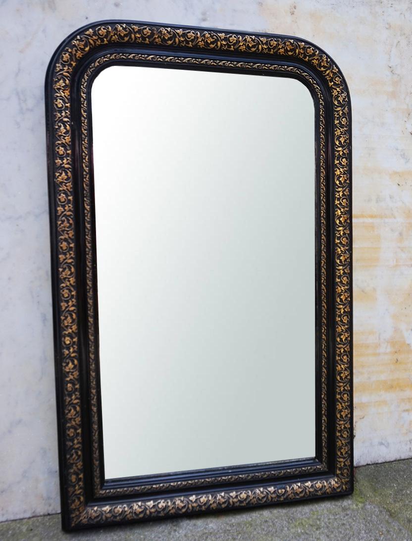 Antieke Brocante Spiegel.Kleine Antieke Franse Brocante Louis Philippe Spiegel