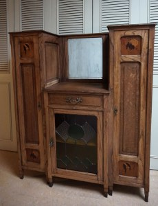 art deco, art nouveau, arts, crafts, display, cabinet, vogels, kast