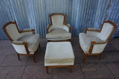 French Salon armchairs Louis XVI-181