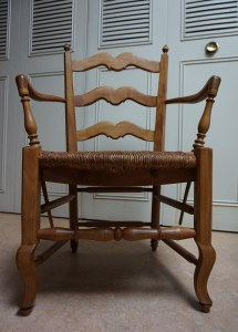 French-country-provence-beech-wood-armchair-wicker-rush-seat-armstoel-rieten-zitting-antiek