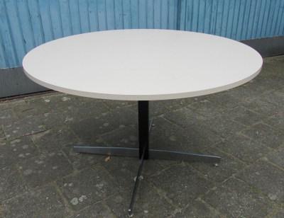 Ronde Vintage Eettafel.Vintage Mid Century Modern Ronde Formica Tafel