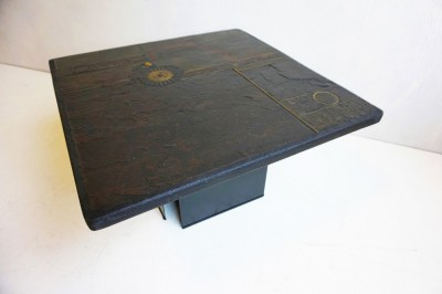 Paul Kingma, table, brutalist, small coffee table, vintage tafel, dutch artist